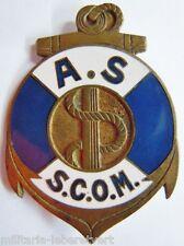 Rare insigne Politique WWII AS / SCOM ASSISTANTE SOCIALE MARINE 1941 ORIGINAL