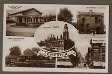 LEICESTER multiview  photograph RP  vintage postcard n168