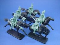 ARMIES IN PLASTIC 5535 WWI Toy Soldiers German Cavalry 5 w Horses NEW IN BOX