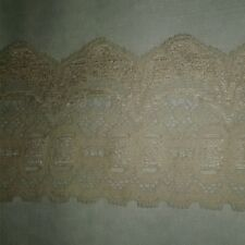 30 Yards 3 inch Wide Beige Stretch Elastic Lace