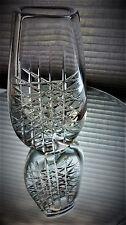 1960s  Ingeborg Lundin geometric  pattern  crystal glass vase from  Orrefors.