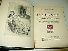 ANNA DE NOAILLES Les INNOCENTES 1926 Illustré CHAS LABORDE 925 EX. / Rives