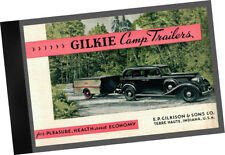 1934 Gilkie Camp Trailers CATALOGUE Camping Equipment + Supplies w build plans