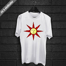 Mens Dark Souls Praise the Sun Solaire Knight Dark White T SHIRT #3 size S - 2XL