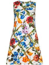 $1495 Dolce & Gabbana AUTH NWT Bamboo Floral Insects Matching Lining Dress 44
