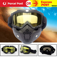 Outdoor Tactical Full Face Mask - Goggles Gel Blaster Paintball Protect Glasses