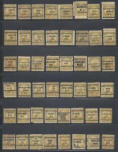 48 Piece US Precancel Collection Scott #640 JK71