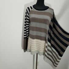 Silence Noise Taylor Dolman Pullover Sweater Size S Asymmetric Oversized Striped