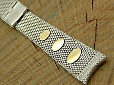 """Vintage NOS Duchess Stainless Watch Band Sliding Clasp 17.5mm Unused 7"""" Long"""