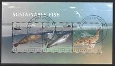 AUSTRALIA 2019 SUSTAINABLE FISH MINIATURE SHEET FINE USED