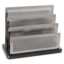 Rolodex Mini Sorter Three Stepped Sections 7 1/2 x 3 1/2 x 5 3/4 Metal/Black