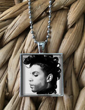 Prince Artist Music Vintage Portrait Glass Pendant Silver Chain Necklace NEW