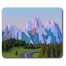 Computer Mouse Mat - 3D Cartoon Mountain Road Ski Office Gift #21057
