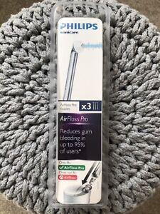 3 x Philips Sonicare AirFloss Pro / Ultra Nozzles - Genuine. HX8033/26 NEW