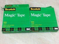 Scotch Magic Tape 3/4 inch x 2592 inch (72 yards) 810 Lot of 2 Rolls NIP
