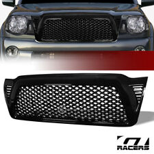 For 2005-2011 Toyota Tacoma Gloss Blk Dragon Mesh Front Hood Bumper Grill Grille