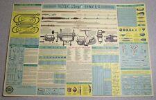 Vintage 1954 CHEVROLET HOOK LINE SINKER FISHING TACKLE INFO 16x11 POSTER VG!