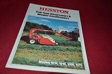 Hesston 1014 1010 1070 1090 Haybine Mower Conditioner Dealer's Brochure DCPA5