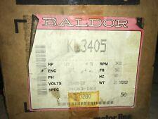 BALDOR Motor, KL3405, 1/3hp, 3450rpm, 115/208-230hp, FR-56C, With Warranty.