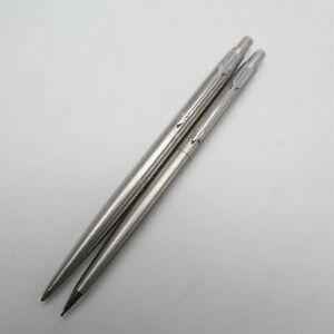Vtg PARKER pen & Mechanical pencil set USA made Nice (one has an enscription)