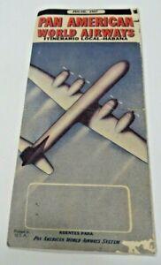 PAN AMERICAN WORLD AIRWAYS,1947 SALES BLOTTER AIRLINES,LOCAL-HABANA PAPER
