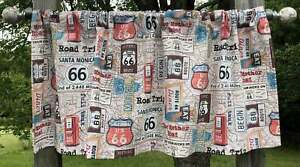 Route 66 Trip Rt 66 Highway Signs Travel Farmhouse Valance Panel