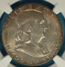 1956 Franklin Half Dollar NGC MS66FBL- Exceptional Surfaces, Nice Tone
