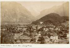 Suisse, Interlaken et le Jungfrau, ca.1880, vintage albumen print Vintage albume
