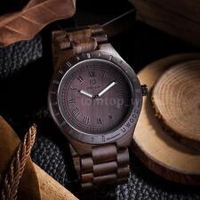 Uwood Men's Natural Wooden Watch Sandal Wood Analog Quartz Wristwatch Casual