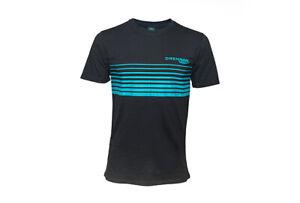 Drennan Match Fishing Clothing Range - Black & Aqua T-Shirt - All Sizes