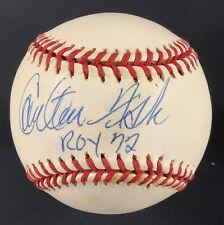 Carlton Fisk Signed Baseball Rawlings Red Sox Autograph ROY 72 Inscrip HOF JSA