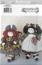 """Butterick Pattern Garden Pattern #4280 20"""" Decorative Collectible Dolls-Clothes"""