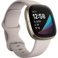 Brand New Sealed Fitbit Sense Fitness Health Watch Lunar White Band FB512GLWT