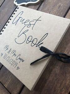 Wedding Guest Book Personalised 8x8 Inches (40 Pages)