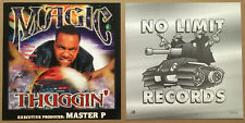 MAGIC Rare 1999 DOUBLE SIDE PROMO POSTER FLAT for Thuggin CD 12x12 USA MASTER P