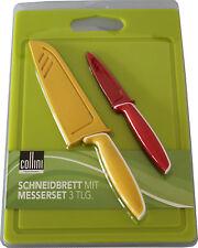 Berndorf Collini Schneidebrett + Messerset Edelstahl Santokumesser Schälmesser