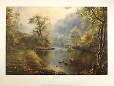 REX PRESTON peaceful retreat RARE FISHING ANGLING print last copies