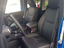 2013 2018 Jeep Wrangler Jk 4 Door New Katzkin Black Leather Seat Covers Kit