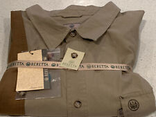 Beretta Upland Front Load Shirt, Brown XXXL MSRP $130 3XL Brand NEW with TAGS