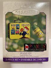 Peanuts Hallmark Ornament 2 Piece Lunch Box Set
