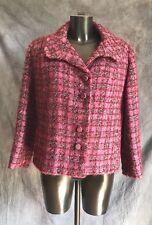 Vintage Women's Genuine Welsh Wool Cropped Jacket Purple Pink Original Trewerne