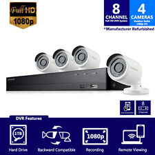 (Seller Refurbished) Samsung SDH-B74041 1TB 8 CH Security System w/ 4 Cameras