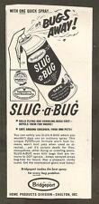 VINTAGE AD - SLUG-A-BUG INSECT SPRAY - SATURDAY EVENING POST JULY 22, 1961