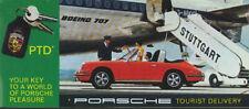 Mint Original! 1969 Porsche 911 Tourist Delivery Brochure/Folder