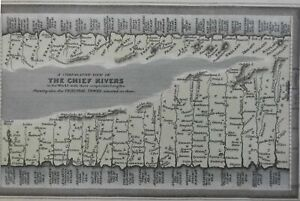 Comparative Lengths of the World's Rivers Danube Nile Amazon 1832 Carey print