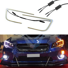 2Pcs Switchback C-ring circuit boards Headlight DRL For 2015-up Subaru WRX & STI