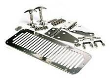 1987-1995 Jeep Wrangler Hood Grill, Hinge and Latch Kit Stainless Steel