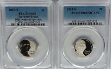 Lot of 2 Coins PCGS PR69 2018-S Reverse Proof + Proof JEFFERSON Nickel US Mint *