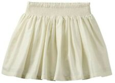 Carters Girls Metallic Striped Skirt, Size 3T, Ivory & Gold, NWT
