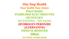 HYDROGEN PEROXIDE FOOD GRADE - ALTERNATIVE - STABILISED ELECTROLYTES OF OXYGEN